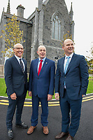 07/09/2017 David C. McCourt, founder of Granahan McCourt Capital and Chairman of enet  and Stephen Wheeler, MD SSE Ireland with Minister Naughten (centre) who announced a joint venture between enet and SSE which will roll-out superfast broadband to 115,000 premises in regional Ireland. <br />  Photo:Andrew Downes, xposure