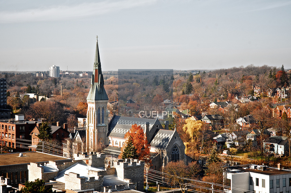 St. Georges Church in Downtown Guelph, on a fall day.  Photo by Phil Maurion.