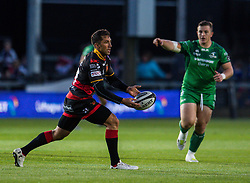 Dragons' Gavin Henson in action<br /> <br />  - Mandatory by-line: Craig Thomas/JMP - 15/09/2017 - RUGBY - Rodney Parade - Newport, Gwent, Wales - Newport Gwent Dragons v Connacht Rugby - Guinness Pro 14