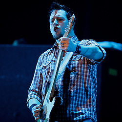 17 April, 2009: Troy McLawhorn of Seether performs as one of the opening acts in support of Nickelback's new album 'Dark Horse' for their 2009 concert tour stop at the New Orleans Arena in New Orleans, Louisiana.