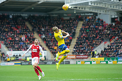 January 26, 2019 - Rotherham, England, United Kingdom - Ezgjan Alioski of Leeds United wins a header during the Sky Bet Championship match between Rotherham United and Leeds United at the New York Stadium, Rotherham, England, UK, on Saturday 26th January 2019. (Credit Image: © Mark Fletcher/NurPhoto via ZUMA Press)