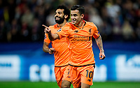 MARIBOR, SLOVENIA - OCTOBER 17: Philippe Coutinho of Liverpool FC celebrates after scoring second goal for Liverpool during UEFA Champions League 2017/18 group E match between NK Maribor and Liverpool FC at Stadium Ljudski vrt, on October 17, 2017 in Maribor, Slovenia. (Photo by Vid Ponikvar / Sportida)