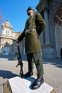 Soldier in the Dolmabahce palace, Istanbul, Turkey