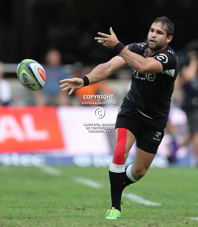 Cobus Reinach of the Cell C Sharks during the Super Rugby match between the Cell C Sharks and the Jaguares  April 8th 2017 - at Growthpoint Kings Park,Durban South Africa Photo by (Steve Haag)