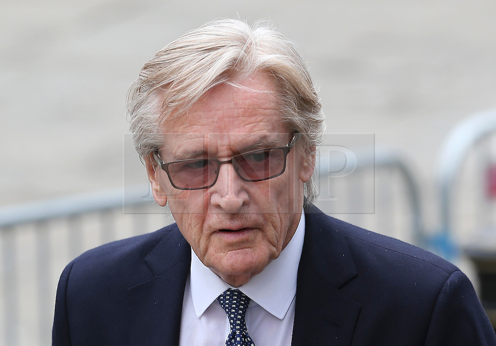 © Licensed to London News Pictures . 18/03/2016 . Manchester , UK . William Roache arrives at the service. Television stars and members of the public attend the funeral of Coronation Street creator Tony Warren at Manchester Cathedral . Photo credit : Joel Goodman/LNP