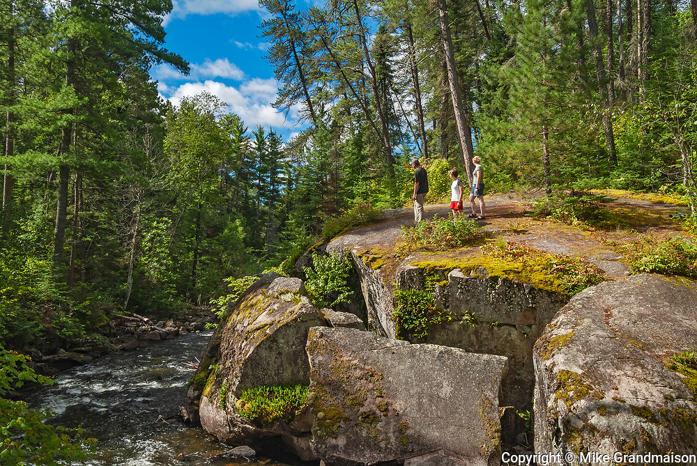 Hiking on a trail<br />Rushing River Provincial Park<br />Ontario<br />Canada