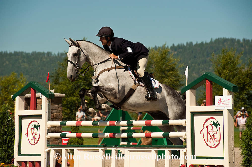 Eventing (equestrian triathlon), Show Jumping event, The Event at Rebecca Farms, Kalispell, Montana