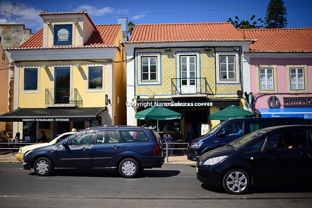 Starbucks Coffee and cars in Belem, Lisbon