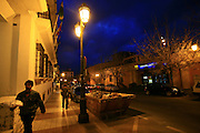 Just before dawn at the city of Seville (sevilla)