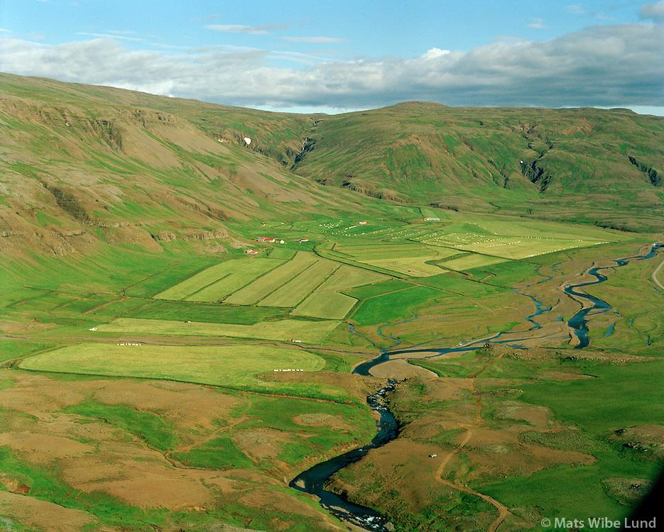 Hækingsdalur séð til austurs, Laxá í Kjós, Kjósarhreppur / Haekingsdalur viewing east, river Laxa i Kjos, Kjosarhreppur.