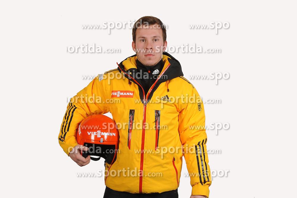 03.01.2014, Kunsteisbahn, Koenigssee, GER, BSD, Rennrodler Team Deutschland, Portrait, im Bild Chris Rohmeiss (RC im TSV Zella-Mehlis) // during Luge athletes of team Germany, Portrait Shooting at the Kunsteisbahn in Koenigssee, Germany on 2014/01/04. EXPA Pictures &copy; 2014, PhotoCredit: EXPA/ Eibner-Pressefoto/ Stuetzle<br /> <br /> *****ATTENTION - OUT of GER*****