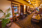 Sitting area at the General Palmer Hotel, Durango, Colorado USA