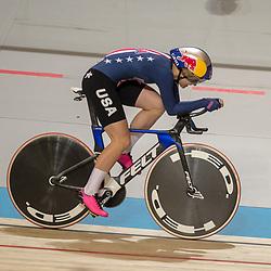 03-03-2018: Wielrennen: WK Baan: Apeldoorn<br />Chloe Dygert (USA) rijdt in de kwalificatie een werledrecord op de 3 kilometer 3.20,072