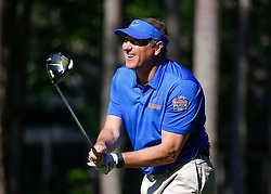 Florida head football coach Dan Mullen during the Chick-fil-A Peach Bowl Challenge at the Ritz Carlton Reynolds, Lake Oconee, on Monday, April 30, 2019, in Greensboro, GA. (Paul Abell via Abell Images for Chick-fil-A Peach Bowl Challenge)