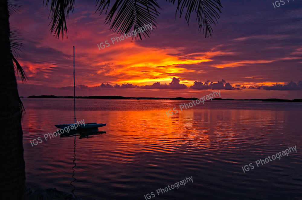 "Sunset at Islamorada, ""Village of Islands,"" in the Florida Keys"