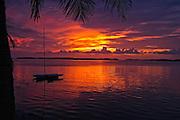 "Sunset at Islamorada, ""Village of Islands,"" in the Florida Keys"