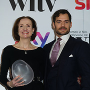 London Hilton, Park lane, England, UK. 1st December 2017. Marianne Jenkins,Henry Cavill attends the Sky Women in Film and TV Awards.