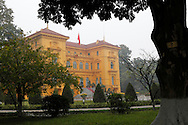 The former French governor's residence which became the Presidential Palace in Hanoi, Vietnam<br />  photo by Dennis Brack