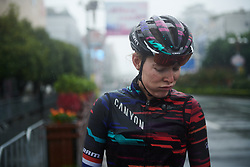 Hannah Barnes (GBR) catches her breath after GREE Tour of Guangxi Women's World Tour 2018, a 145.8 km road race in Guilin, China on October 21, 2018. Photo by Sean Robinson/velofocus.com