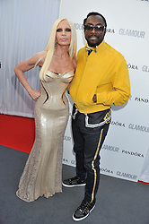 DONATELLA VERSACE and WILL.I.AM at the Glamour Women of the Year Awards 2012 in association with Pandora held in Berkeley Square Gardens, London W1 on 29th May 2012.