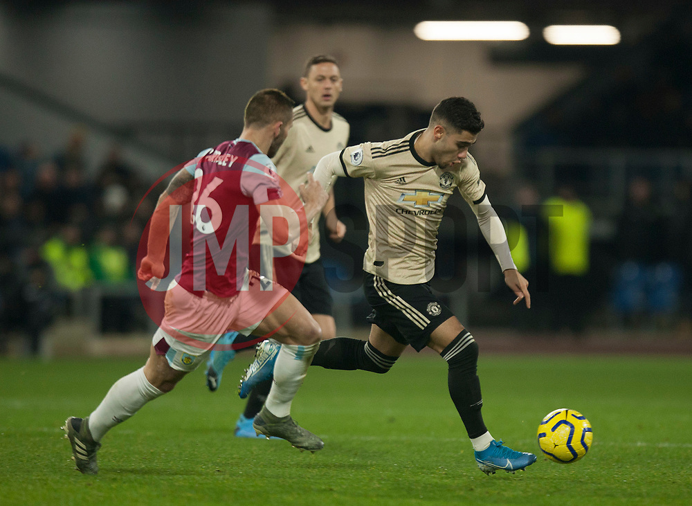 Andreas Pereira of Manchester United in action - Mandatory by-line: Jack Phillips/JMP - 28/12/2019 - FOOTBALL - Turf Moor - Burnley, England - Burnley v Manchester United - English Premier League