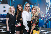 2019, June 17. Pathe ArenA, Amsterdam, the Netherlands. Danique van Ostende, Anouk Michelle, Sterre van Woudenberg and Merel de Zwart at the dutch premiere of Men In Black International.