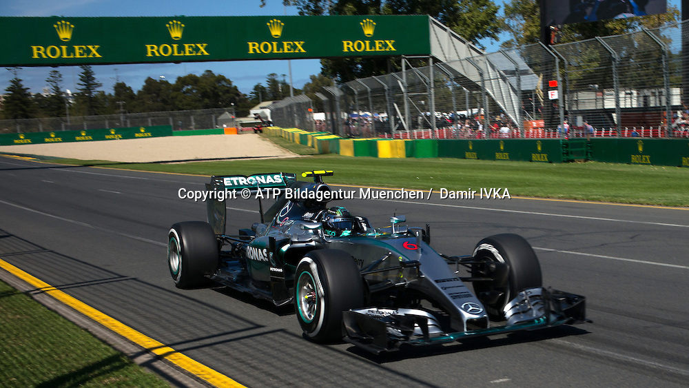 Nico ROSBERG, GER, Team Mercedes-AMG-Petronas Formula One, <br /> Mercedes F1 W06 Hybrid, <br /> AUSTRALIAN Formula One Grand Prix 2015, Albert Park  - <br /> Formel 1 Rennen in Australien, Motorsport, F1 GP, 13.03. Honorarpflichtiges Foto, Fee liable image, <br /> Copyright &copy; ATP Damir IVKA