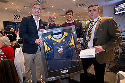Match day sponsor with Dewald Potgieter and Dean Hammond of Worcester Warriors - Mandatory by-line: Robbie Stephenson/JMP - 22/12/2017 - RUGBY - Sixways Stadium - Worcester, England - Worcester Warriors v London Irish - Aviva Premiership