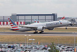 © under license to London News Pictures.FILE PHOTO American Airlines Boeing 777-300 Aircraft at London Heathrow<br /> <br /> Photo credit should read IAN SCHOFIELD/LNP