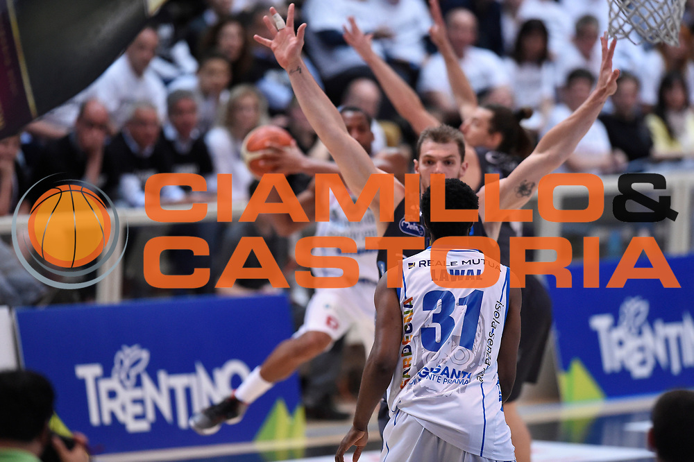 Lawal Gani<br /> Quarti di Finale Gara 2<br /> Legabasket A 2016,2017<br /> Trento 14,05,2017<br /> Foto Ciamillo-Castoria,GiulioCiamillo