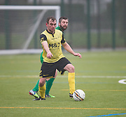 Dundee Saturday Morning Football League sides Hilltown Hotspur (green) and FC Menziehill (yellow) met in friendly action at Criagie 3g, Dundee. Photo: David Young<br /> <br />  - © David Young - www.davidyoungphoto.co.uk - email: davidyoungphoto@gmail.com