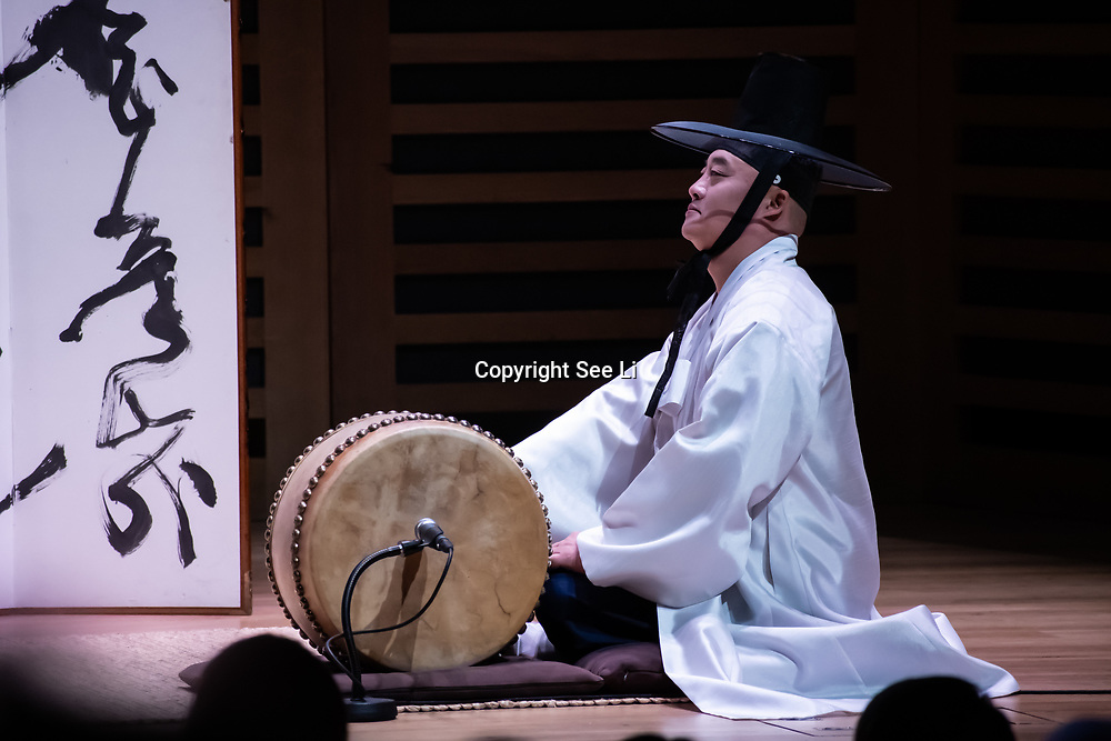K-Music - Celebrate Pansori, of historical war time story at Kings Place on 6 October 2019, London, UK.