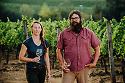 Dan Rinke and Morgan Hall wine makers at Johan Vineyards in Rick Reall, Oregon