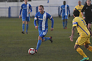 Glossop North End  Nicky Platt (10)  during the Evo-Stik Premier League match between Glossop North End and Scarborough Athletic at the Arthur Goldthorpe Stadium, Glossop, United Kingdom on 26 November 2016. Photo by Mark Pollitt.