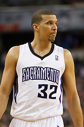 March 7, 2011; Sacramento, CA, USA;  Sacramento Kings shooting guard Francisco Garcia (32) before a free throw against the Houston Rockets during the second quarter at the Power Balance Pavilion. Houston defeated Sacramento 123-101.