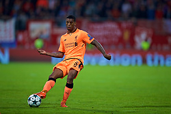 MARIBOR, SLOVENIA - Tuesday, October 17, 2017: Liverpool's Georginio Wijnaldum during the UEFA Champions League Group E match between NK Maribor and Liverpool at the Stadion Ljudski vrt. (Pic by David Rawcliffe/Propaganda)