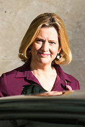 London, November 05 2017. Home Secretary Amber Rudd leaves the Andrew Marr Show at the BBC's New Broadcasting House in London.. © Paul Davey