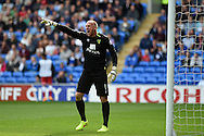 John Ruddy, the Norwich city goalkeeper in action. Skybet football league championship match, Cardiff city v Norwich city at the Cardiff city Stadium in Cardiff, South Wales on Saturday 13th Sept 2014<br /> pic by Andrew Orchard, Andrew Orchard sports photography.