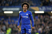 Chelsea FC forward Willian (22) during the Europa League quarter-final, leg 2 of 2 match between Chelsea and Slavia Prague at Stamford Bridge, London, England on 18 April 2019.