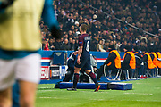 Marco Verratti (psg) back to the changing room after his red card during the UEFA Champions League, round of 16, 2nd leg football match between Paris Saint-Germain FC and Real Madrid CF on March 6, 2018 at Parc des Princes stadium in Paris, France - Photo Pierre Charlier / ProSportsImages / DPPI