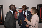 Ozwald Boateng, Sol Campbell and Fiona Barratt-Campbell, PAD COLLECTORS PREVIEW NIGHT - BERKELEY SQ. LONDON, MONDAY 3 OCTOBER