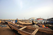 A fishing boat in the harbor at Cotonou, Benin March 1, 2008.