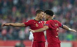 October 11, 2018 - Chorzow, Poland - Ruben Dias, Pepe during the UEFA Nations league match between Poland v Portugal at the Slaski Stadium on October 11, 2018 in Chorzow  (Credit Image: © Foto Olimpik/NurPhoto via ZUMA Press)