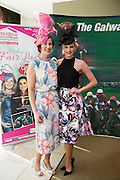 At the launch of The Galway Races summer festival 2015 were Shirley Bracken Athlone town Centre and Catwalk model Katie Geoghegan  .Photo:Andrew Downes:XPOSURE