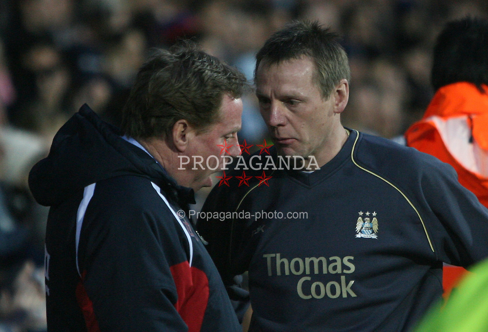 Portsmouth, England - Saturday, February 10, 2007: Portsmouth's HArry Redknapp and Manchester City's Stuart Pearce during the Premiership match at Fratton Park. (Pic by Chris Ratcliffe/Propaganda)