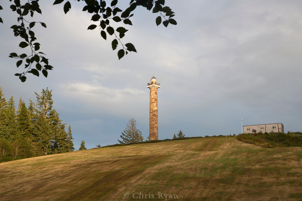 Astoria column at sunset, Astoria, Oregon