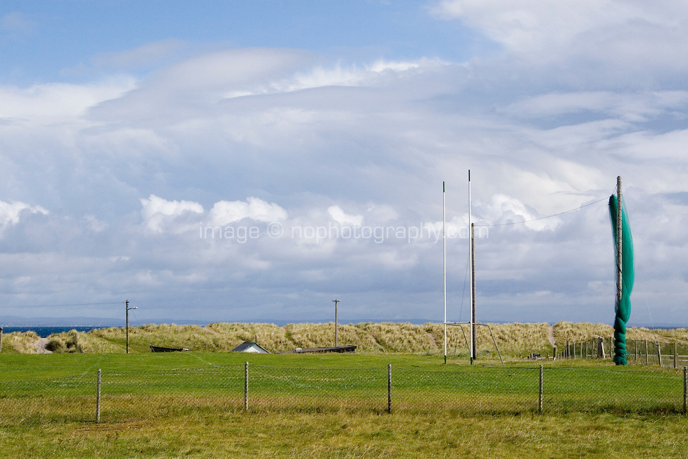 Football playing field on Inis Oirr Island the Aran Islands County Galway Ireland