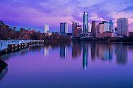 Blue hour, just before sunrise of downtown Austin,Texas
