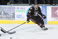 KELOWNA, CANADA - FEBRUARY 18: Dexter Bricker #28 of the Red Deer Rebels skates on the ice as the Red Deer Rebels visit the Kelowna Rockets on February 18, 2012 at Prospera Place in Kelowna, British Columbia, Canada (Photo by Marissa Baecker/Shoot the Breeze) *** Local Caption ***
