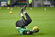 Warm up exercises for Ofir Marciano before the Ladbrokes Scottish Premiership match between Hibernian and Rangers at Easter Road, Edinburgh, Scotland on 8 March 2019.